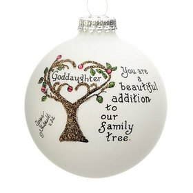 Goddaughter Family Tree Christmas Ornament