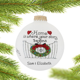 Personalized Home Is Where Your Story Begins Christmas Ornament