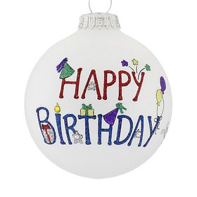 Personalized Happy Birthday Words Christmas Ornament