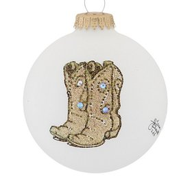 Personalized Cowboy Boots Christmas Ornament