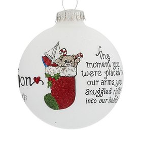 Son You Snuggled Right Into Our Hearts Christmas Ornament