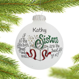 Personalized Sisters Are The Best Gifts Christmas Ornament