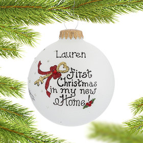 Personalized First Christmas in My New Home Christmas Ornament