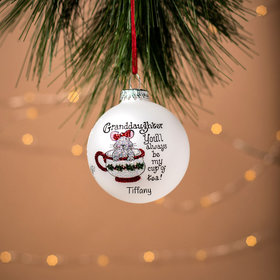 Personalized Granddaughter My Cup of Tea Christmas Ornament