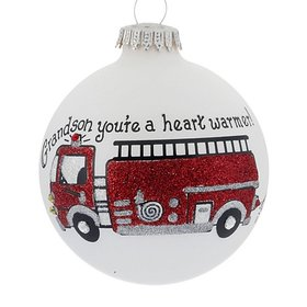 Personalized Grandson You're A Heart Warmer Christmas Ornament