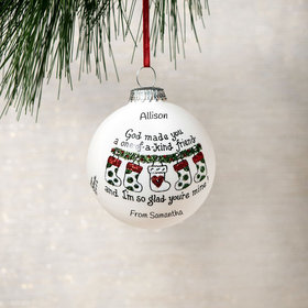 Personalized One-Of-A-Kind Friend Christmas Ornament