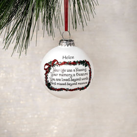 Personalized Your Life Was a Blessing Christmas Ornament