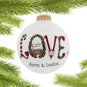 Personalized Nativity LOVE Christmas Ornament