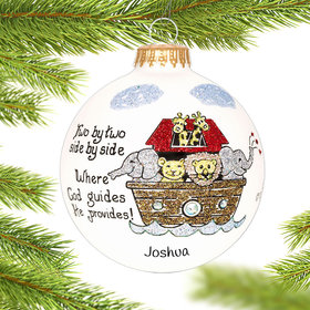 Personalized Noah's Ark Christmas Ornament