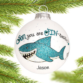 Personalized Son Shark Christmas Ornament