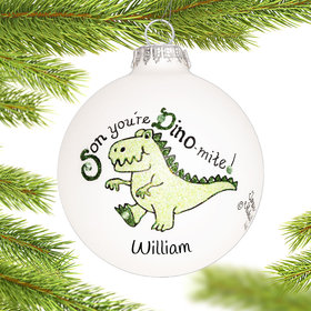 Personalized Son Dino Christmas Ornament