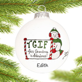 Personalized Tgif Grandma Christmas Ornament