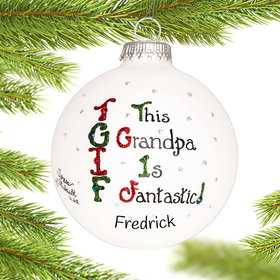 Personalized Tgif Grandpa Christmas Ornament