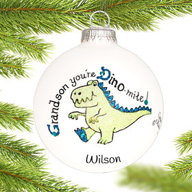 Personalized Grandson Dino Christmas Ornament