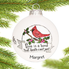 Personalized Cardinal Memorial Christmas Ornament