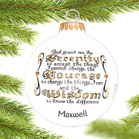 Personalized Serentiy Prayer Christmas Ornament