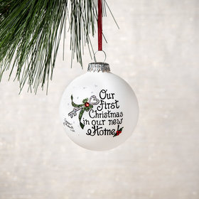 Personalized Our First Christmas In Our New Home Christmas Ornament