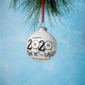 Personalized Let It Roll Christmas Ornament