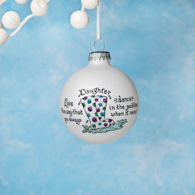 Personalized Daughter Dance in the Puddles Christmas Ornament