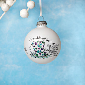 Personalized Granddaughter Dance in the Puddles Christmas Ornament