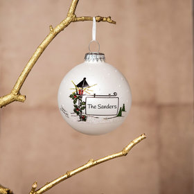 Personalized Lamp Post Christmas Ornament