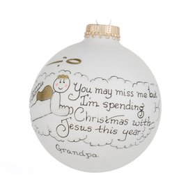 Personalized Miss Me (Boy) Christmas Ornament