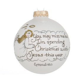 Personalized Miss Me (Girl) Christmas Ornament