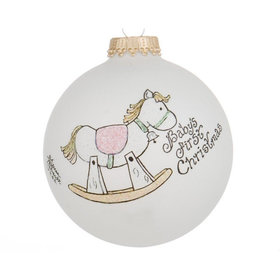 Rocking Horse Girl Christmas Ornament