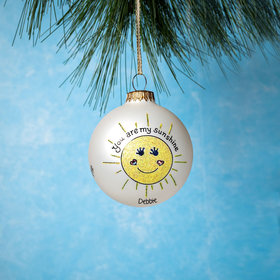 Personalized You Are My Sunshine Christmas Ornament