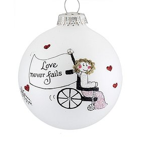 Girl in a Wheelchair Christmas Ornament