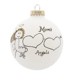 Mom's 2 Angels Christmas Ornament