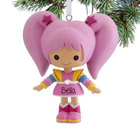 Personalized Rainbow Brite Tickled Pink Christmas Ornament