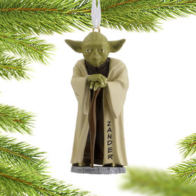 Personalized Star Wars Yoda Christmas Ornament