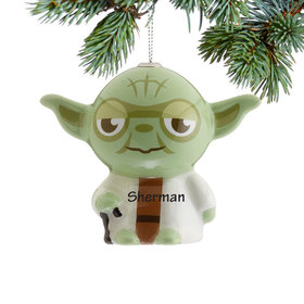 Personalized Star Wars Cartoon Yoda Christmas Ornament