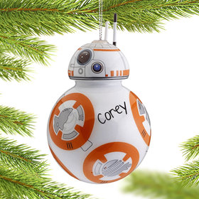 Personalized Star Wars Cartoon BB-8 Christmas Ornament