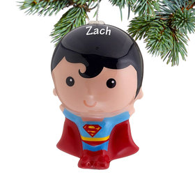 Personalized Cartoon Superman Christmas Ornament
