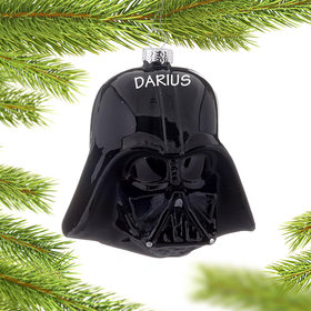 Personalized Star Wars Darth Vader Helmet Christmas Ornament