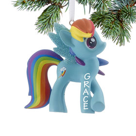 Personalized My Little Pony Rainbow Dash Christmas Ornament