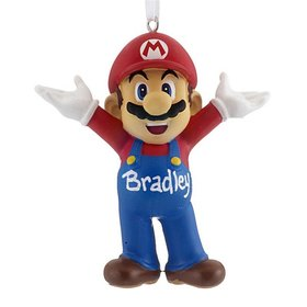 Personalized Super Mario Christmas Ornament