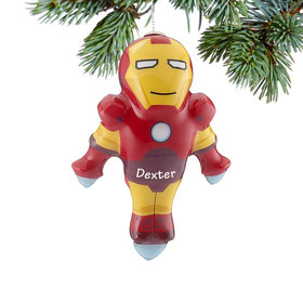Personalized Cartoon Iron Man Christmas Ornament