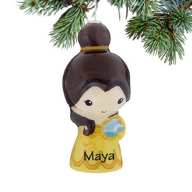 Personalized Cartoon Beauty and the Beast Belle Christmas Ornament