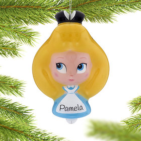 Personalized Cartoon Alice in Wonderland Christmas Ornament
