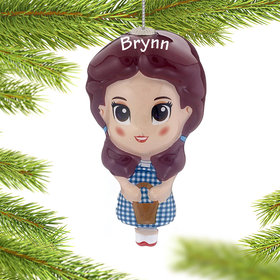 Personalized Cartoon Wizard of Oz Dorothy Christmas Ornament
