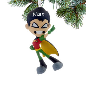 Personalized Teen Titans GO! Robin Christmas Ornament