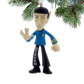 Personalized Star Trek Spock Christmas Ornament