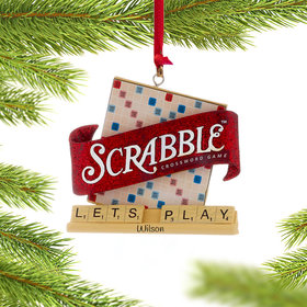 Personalized Scrabble Game Tiles Christmas Ornament