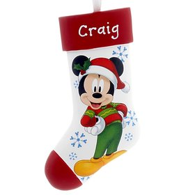 Personalized Mickey Mouse on Stocking Christmas Ornament