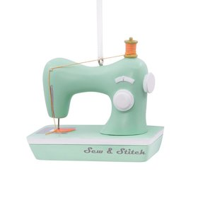 Personalized Sew and Stitch Sewing Machine Christmas Ornament