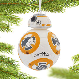Personalized Star Wars BB-8 Blown Glass Christmas Ornament