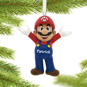 Personalized Nintendo Mario Christmas Ornament